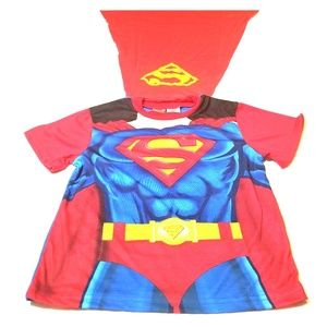 Other - Superman pajama top muscles with Cape sz 10/12 NWT